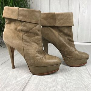 Dolce Vita Calla suede leather platform booties